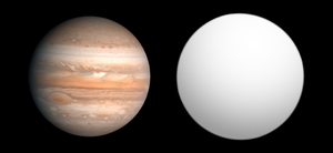 COROT-9b - Size comparison of COROT-9b with Jupiter.