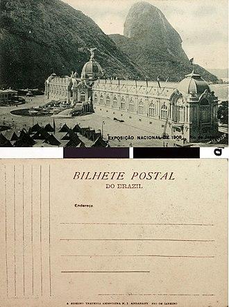 Exhibition of the centenary of the opening of the Ports of Brazil - Image: Exposição Nacional de 1908 Palácio da Indústria