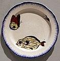 Félix bracquemond per lebeuf et milliet, piatto con farfalla, ragno e pesce, 1866-67.jpg