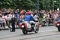 Fête nationale belge à Bruxelles le 21 juillet 2016 - Moto de la police belge lors du défilé national 08.jpg