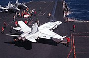 F-18A Hornet VMFA-451 USS Coral Sea 1989