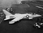 F11F-1 Tiger on USS Forrestal (CVA-59) in April 1956.jpg
