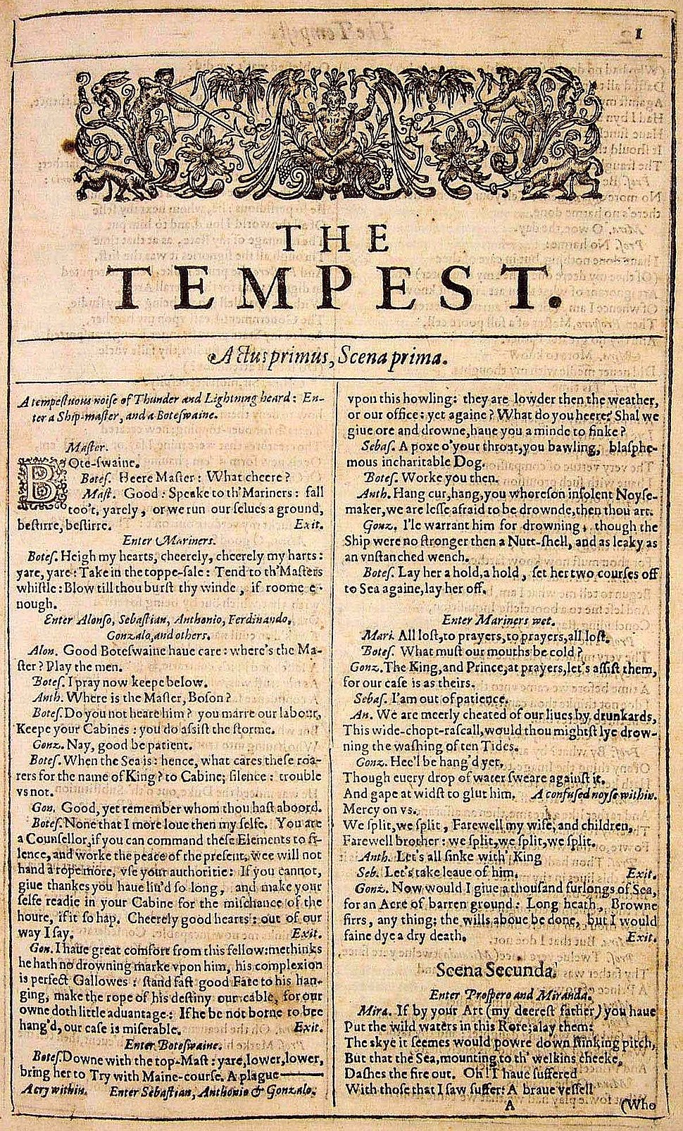 FF The Tempest title