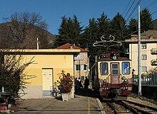 La stazione di Casella Paese della linea Genova-Casella