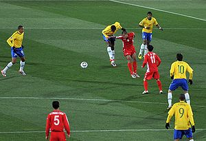 North Korea national football team - North Korea playing against Brazil in the 2010 World Cup