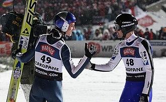 Gregor Schlierenzauer - Image: FIS Ski Jumping World Cup 2009 Zakopane Gregor Schlierenzauer and Wolfgang Loitzl