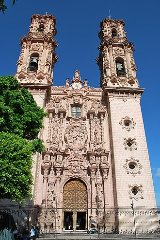 Guerrero - Santa Prisca church in Taxco