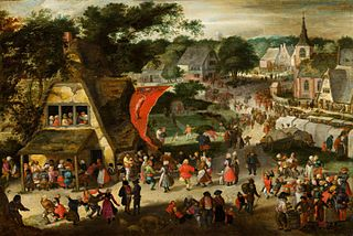 St. Sebastian fair in a Flemish village