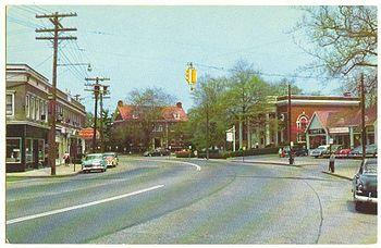Fairfield Post Road 1956 Postcard