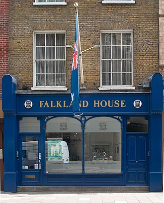 Politics of the Falkland Islands - Falkland House, the representative office for the Falkland Islands Government in Westminster, London