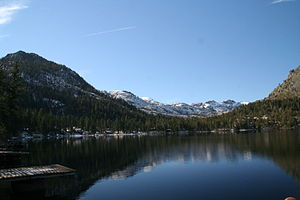Fallen Leaf Lake (California) - Fallen Leaf Lake in winter