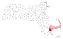 Location in Barnstable County in Massachusetts