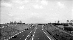 Toddington services - The site in April 1960 before it was built