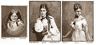 Fanny Brough - Fanny Brough, ages 2½, 16 and 22, Strand Magazine, 1892