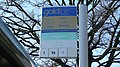 Farnborough Kingsmead B bus stop flag.JPG