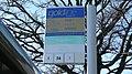 Farnborough Kingsmead B bus stop flag.JPG