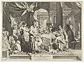 Feestmaal van Cleopatra Quem Mars nunquam, vicit Vénus (titel op object), RP-P-OB-46.795.jpg