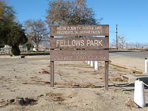 Fellows, California - Fellows Park sign