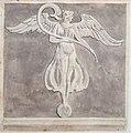 """Femme ailée à Pompéi (ca. 1820) par Charles-Frédéric Chassériau (1802-1896), collaborateur de François Mazois pour son ouvrage """"Les ruines de Pompéi"""".jpg"""