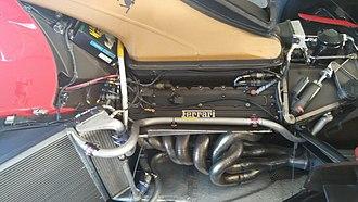 Ferrari 412 T1 - V12 engine and radiators of Ferrari 412 T1.