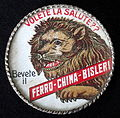 Ferro-China Bisleri, small tin advertising plaque.JPG