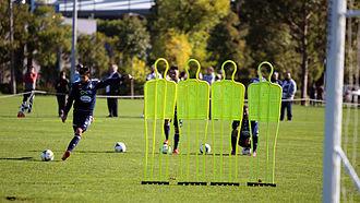 Guilherme Finkler - Guilherme Finkler practising his renowned free kicks in training for Melbourne Victory, May 2015