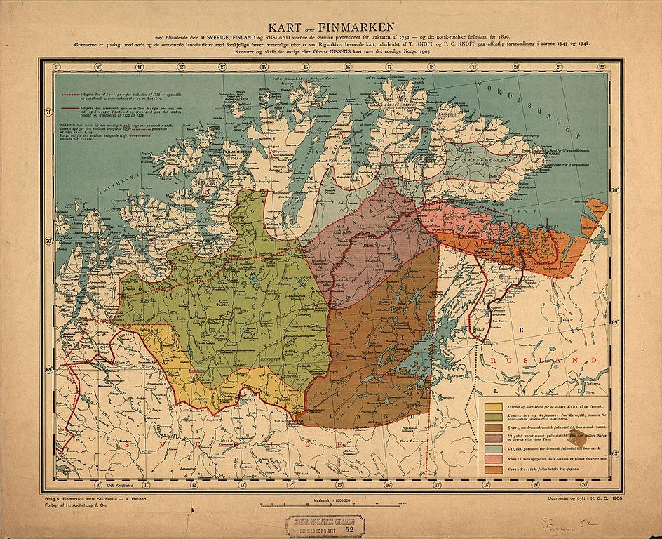File Finnmarkens Amt Nr 52 Kart Over Finmark 1905 Jpg