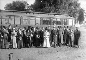 San Fernando (Pacific Electric) - First Red Car over to North Hollywood, December 16, 1911