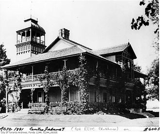 Toronto Islands - The Royal Canadian Yacht Club's first clubhouse on the Toronto Islands, completed in 1881.