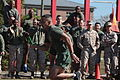 First Sergeant Phillip Billiot, Company First Sergeant, Logistics Operations School, Marine Corps Combat Service Support Schools (MCCSSS), runs in the Running of the Ranks event during MCCSSS Field Meet aboard 131025-M-GJ479-008.jpg