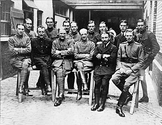 Robert Brooke-Popham - Brooke-Popham, front row third from left, with British military aviation pioneers.