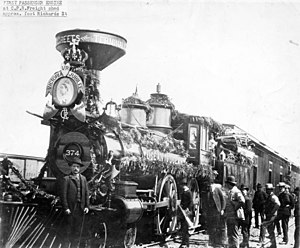 English: Engine 374 of the first Canadian Paci...
