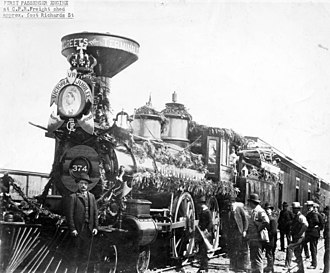 History of Vancouver - The first Canadian Pacific Railway train arrived in Vancouver in May 1887.