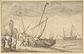 Fisherfolk Hauling their Boat onto the Shore MET DP802356.jpg
