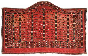 Turkmen rug - Five Tree Yomut Asmalyk, Turkmenistan, 18-19th century.
