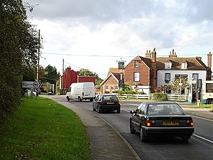 A274 road - The B2163 crossing the A274 Sutton Road