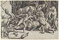 Five men fighting beasts, at lower left is a fallen boar MET DP847769.jpg