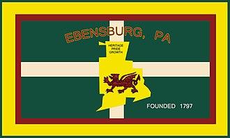 Ebensburg, Pennsylvania - Image: Flag of Ebensburg, Pennsylvania