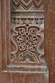 Floral Motif - Red Sandstone - Frontal Pillar - Qila-e-Kuhna Masjid - Old Fort - New Delhi 2014-05-13 2892.JPG