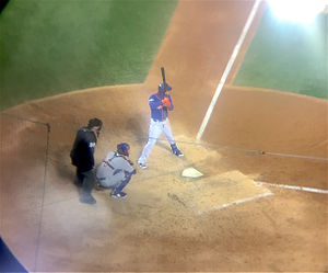2015 National League Championship Series - Flores batting before hitting his single.