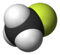 Spacefill model of fluoromethane