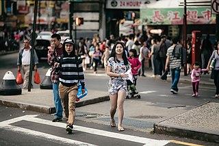 Chinatowns in Queens Neighborhood of Queens in New York City of America