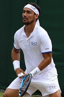 Fabio Fognini Italian tennis player