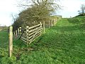 Footpath through North Stoke hill fort - geograph.org.uk - 1599981.jpg