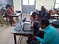 Formation des participants des Classes Wikipédia d'Agitel 2017 à Abidjan. 01.jpg