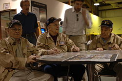 """Forrest Guth, Clancy Lyall and Amos """"Buck"""" Taylor 117380"""