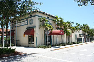 Fort Lauderdale station - Northwest view of historic former Seaboard Air Line Railway (now Amtrak) station