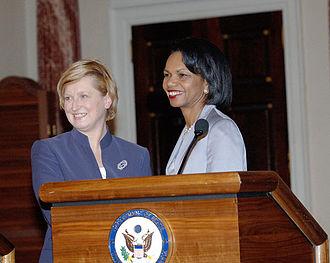 Anna Fotyga - Anna Fotyga with U.S. Secretary of State Condoleezza Rice