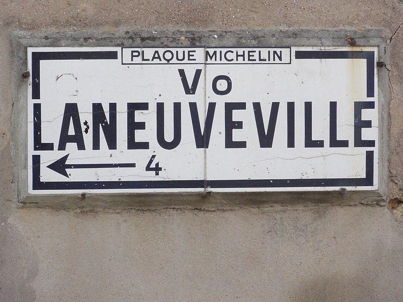 Foug (Meurthe-et-M.) Michelin road sign