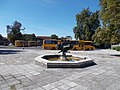 Fountain and bus station, 2020 Sárospatak.jpg